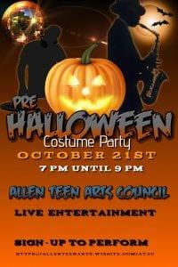 7 pm: ATAC Halloween Bash - Allen Teen Arts Council