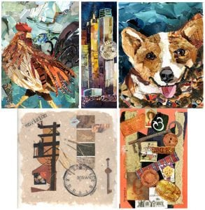 Workshop: Torn Paper & Traditional Collage @ Blue House Too | Allen | Texas | United States