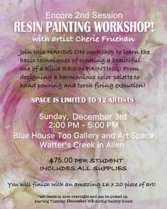 Workshop: Resin Painting @ Blue House Too | Allen | Texas | United States
