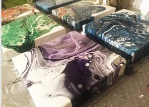 Workshop: Acrylic Pour Fluid Art @ Blue House Too | Allen | Texas | United States