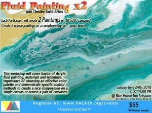 Workshop: Fluid Painting x2 @ Blue House Too | Allen | Texas | United States