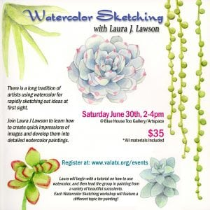 Workshop: Watercolor Sketching @ Blue House Too | Allen | Texas | United States