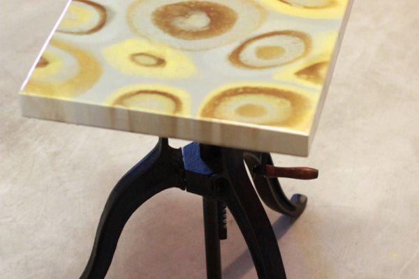 Golden-gray table
